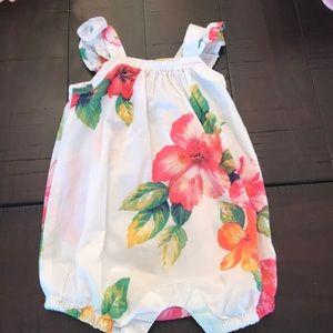 Baby gap floral romper